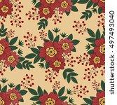 seamless floral pattern.vector... | Shutterstock .eps vector #497493040