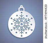 christmas ball with a snowflake ... | Shutterstock .eps vector #497494420