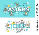 two horizontal professions... | Shutterstock .eps vector #497502274