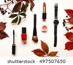 decorative flat lay composition ... | Shutterstock . vector #497507650