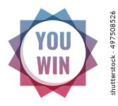you win. icon  logo vector... | Shutterstock .eps vector #497508526