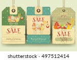 christmas supermarket sale tags ... | Shutterstock .eps vector #497512414