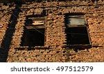abandoned red brick building. | Shutterstock . vector #497512579