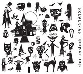 vector set of icons and...