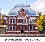 the facade of a historic... | Shutterstock . vector #497527750