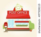 building exterior of post... | Shutterstock .eps vector #497528113