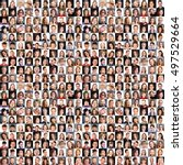 collage of diverse multi ethnic ... | Shutterstock . vector #497529664