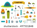 hiking equipment and gear icon... | Shutterstock .eps vector #497531848