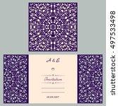 wedding cutout invitation... | Shutterstock .eps vector #497533498