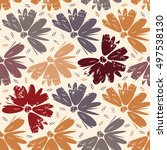 seamless vector floral...   Shutterstock .eps vector #497538130