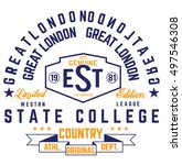college vector label and print... | Shutterstock .eps vector #497546308