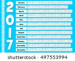 2017 calendar with abstract... | Shutterstock .eps vector #497553994