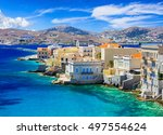 picturesque island syros   view ... | Shutterstock . vector #497554624