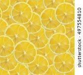 vector realistic sliced lemon... | Shutterstock .eps vector #497554810