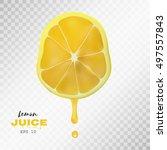 vector realistic sliced lemon... | Shutterstock .eps vector #497557843