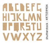 vector cardboard abc. rough...   Shutterstock .eps vector #497559904