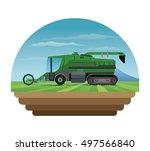 truck machine and farm... | Shutterstock .eps vector #497566840