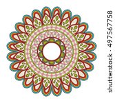 mandale of bohemic and ornament ... | Shutterstock .eps vector #497567758