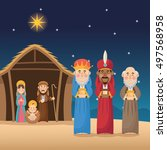 Mary Joseph Jesus And Wise Men...