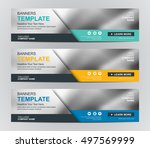 abstract banner design... | Shutterstock .eps vector #497569999