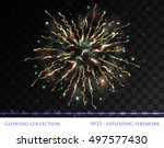 vector eps 10. glowing... | Shutterstock .eps vector #497577430