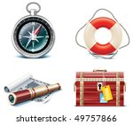 vector marine travel icons.... | Shutterstock .eps vector #49757866