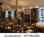 beautiful living room... | Shutterstock . vector #497586580