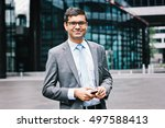 indian business man with... | Shutterstock . vector #497588413