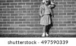 fashionista girl child adorable ... | Shutterstock . vector #497590339