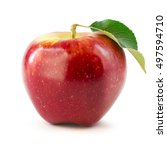 apple isolated on white | Shutterstock . vector #497594710
