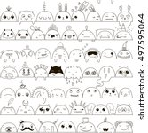 cute seamless pattern with... | Shutterstock .eps vector #497595064