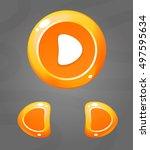cartoon orange buttons. vector...
