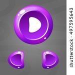cartoon purple buttons. vector...