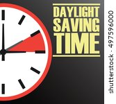 daylight saving time   Shutterstock .eps vector #497596000