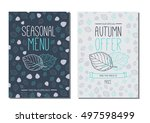 special autumn offer poster.... | Shutterstock .eps vector #497598499