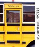 yellow school bus door. | Shutterstock . vector #497599