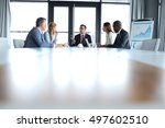 multi ethnic business people... | Shutterstock . vector #497602510