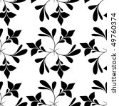 seamless black and white floral ... | Shutterstock .eps vector #49760374