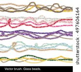vector brush. glass beads  | Shutterstock .eps vector #497606164