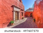 arequipa  peru  street of santa ... | Shutterstock . vector #497607370