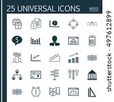 set of 25 universal icons on... | Shutterstock .eps vector #497612899