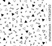 geometric seamless pattern... | Shutterstock .eps vector #497616910