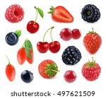 forest berry. sweet fruit. 3d... | Shutterstock .eps vector #497621509