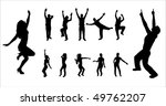 set silhouettes of dancing boys ... | Shutterstock .eps vector #49762207
