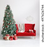 Stylish Christmas Interior Wit...