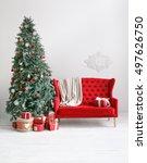 Stylish Christmas Interior Wit...