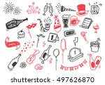 set of new year doodle | Shutterstock .eps vector #497626870