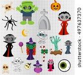 vector set of stickers badges...   Shutterstock .eps vector #497637370