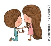 proposed marriage of man to... | Shutterstock .eps vector #497640574