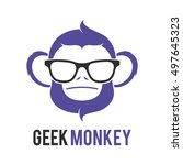 monkey geek logo icon symbol...   Shutterstock .eps vector #497645323